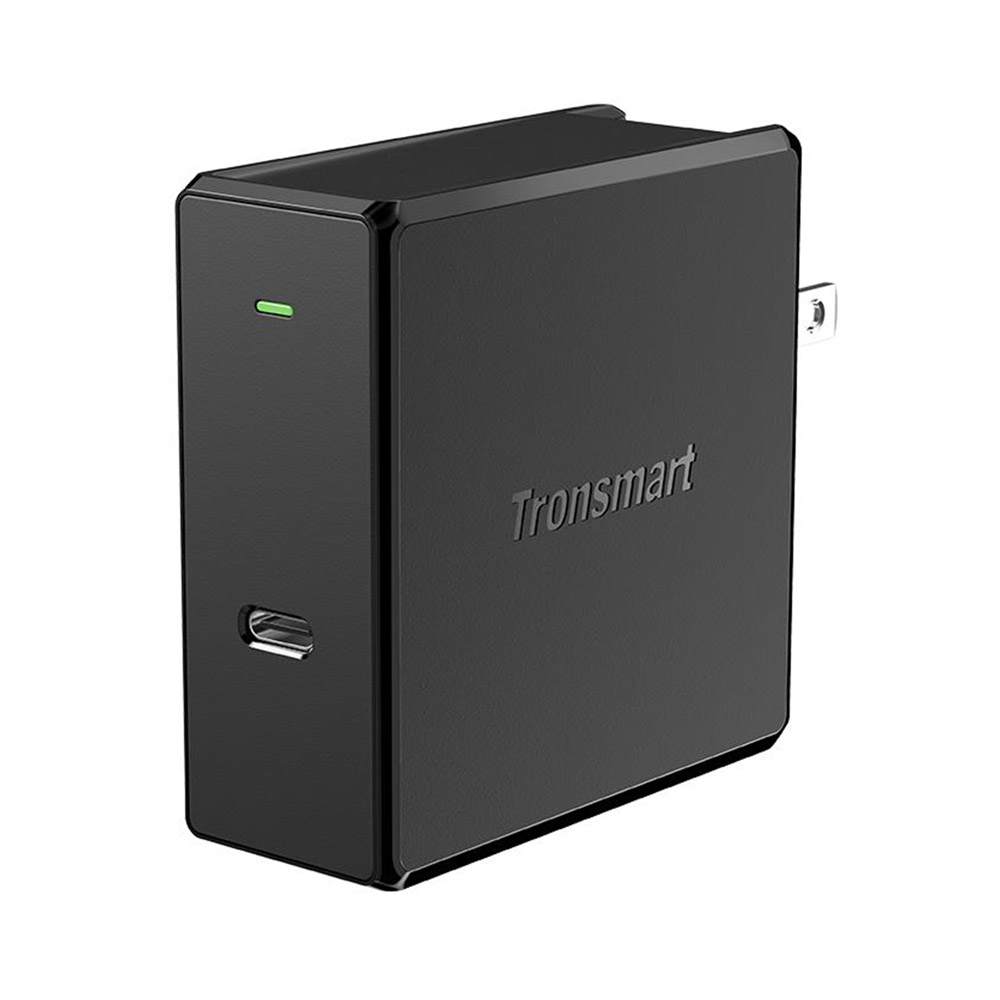 Tronsmart WCP02 60W Caricatore da muro USB-C con alimentazione Consegna 3.0 per MacBook Air iPad Pro 2018 iPhone XS Max XR - Spina USA
