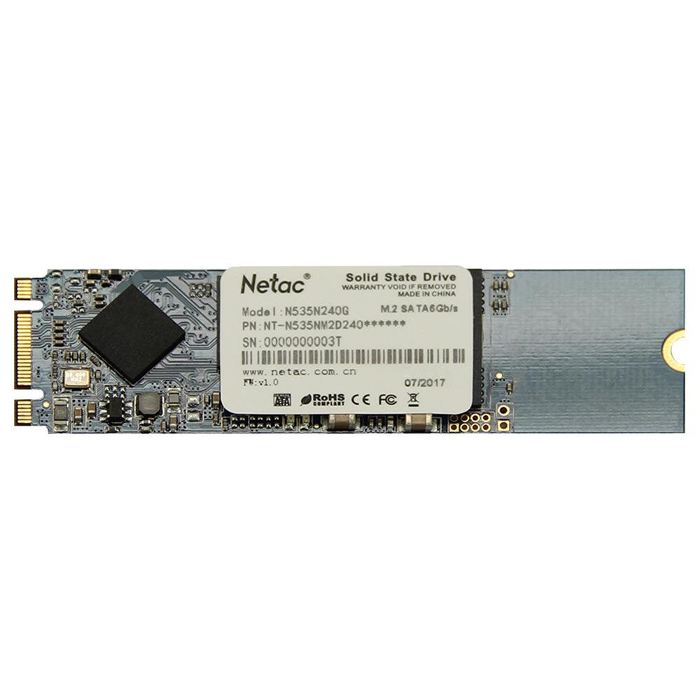 Netac N535N 240GB SSD M.2 2280 SATA 6Gb / s واجهة محرك أقراص الحالة الصلبة سرعة القراءة 450MB / s - الرخام الأزرق
