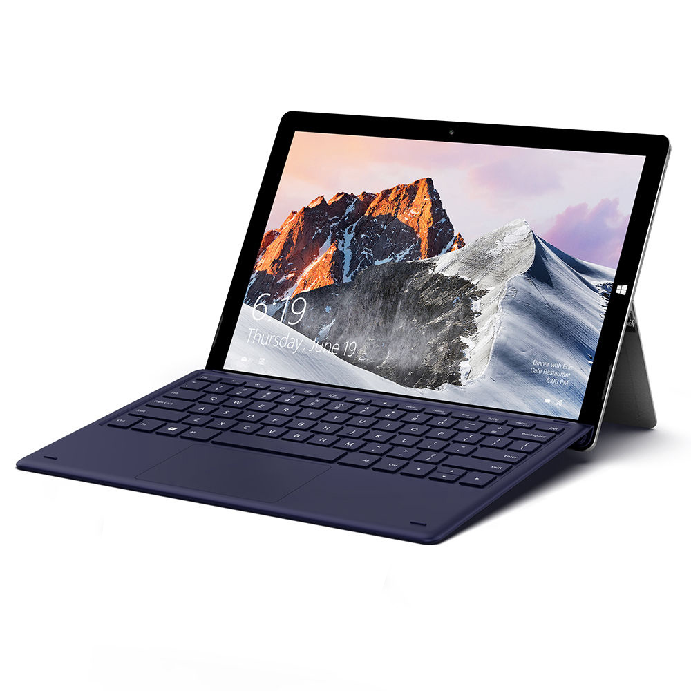 Teclast X6 Pro 2 in 1 Tablet PC Intel Core m3-7Y30 Dual Core (Silver) + Magnetic Docking Keyboard (Blue)