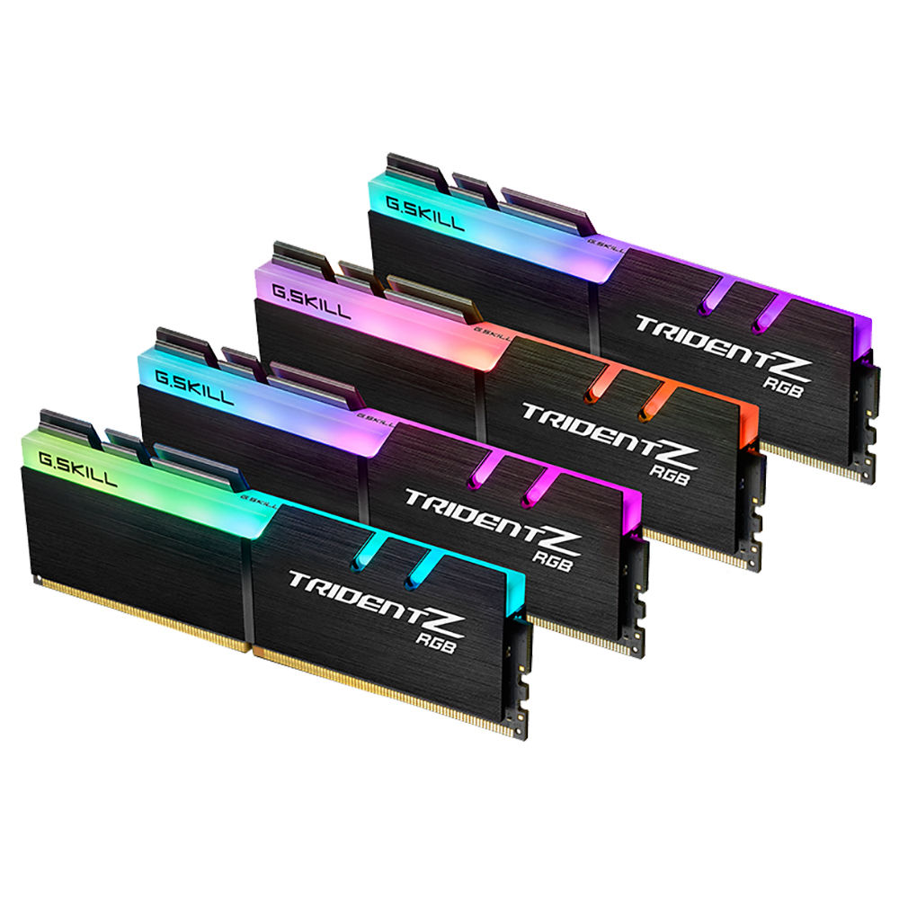 G.SKILL TridentZ RGB Series DDR4 3200MHz 32GB (4 x 8GB) Memory Modules Kit For Desktop Computer - Black