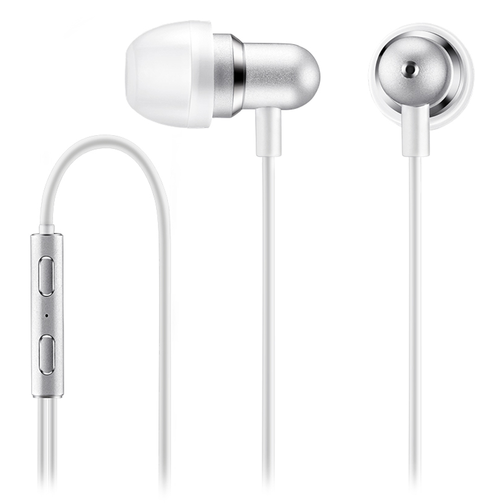MEIZU Wired Control Earphones Aluminium Alloy Bass Stereo - White