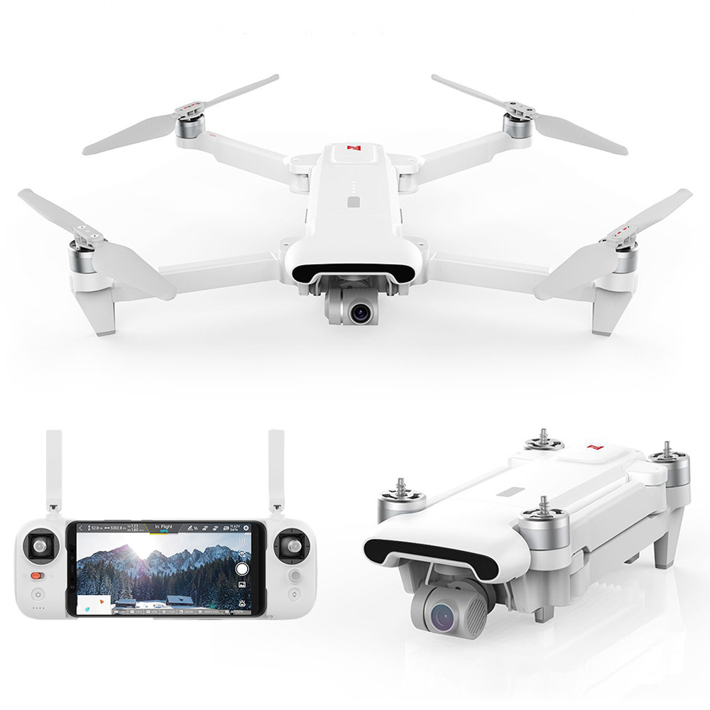 Xiaomi FIMI X8 SE 4K 5KM GPS WiFi FPV Foldable RC Drone with 3-Axis Gimbal 33mins Flight Time RTF - White