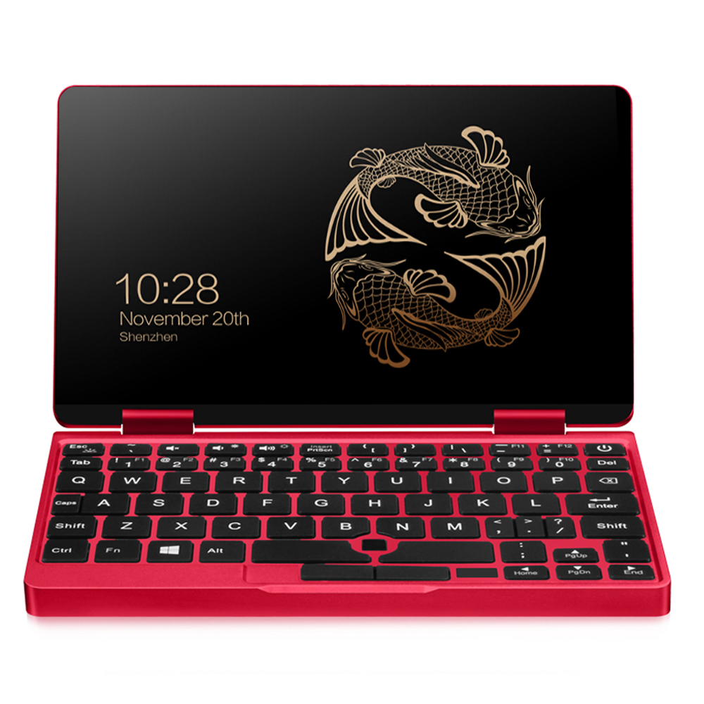 "One Netbook One Mix 2S Yoga Pocket Laptop Intel Core M3-8100Y Dual Core Touch ID 7"" IPS Screen 1920*1200 Windows 10 8GB DDR3 512GB PCI-E SSD - Red"
