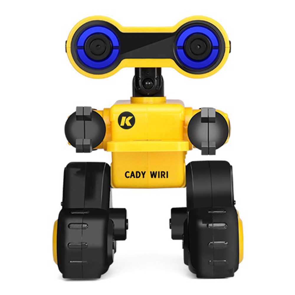 JJRC R13 CADY WIRI Touch Control Programmable Dancing RC Robot Colorful Lights Kids Toys - Yellow