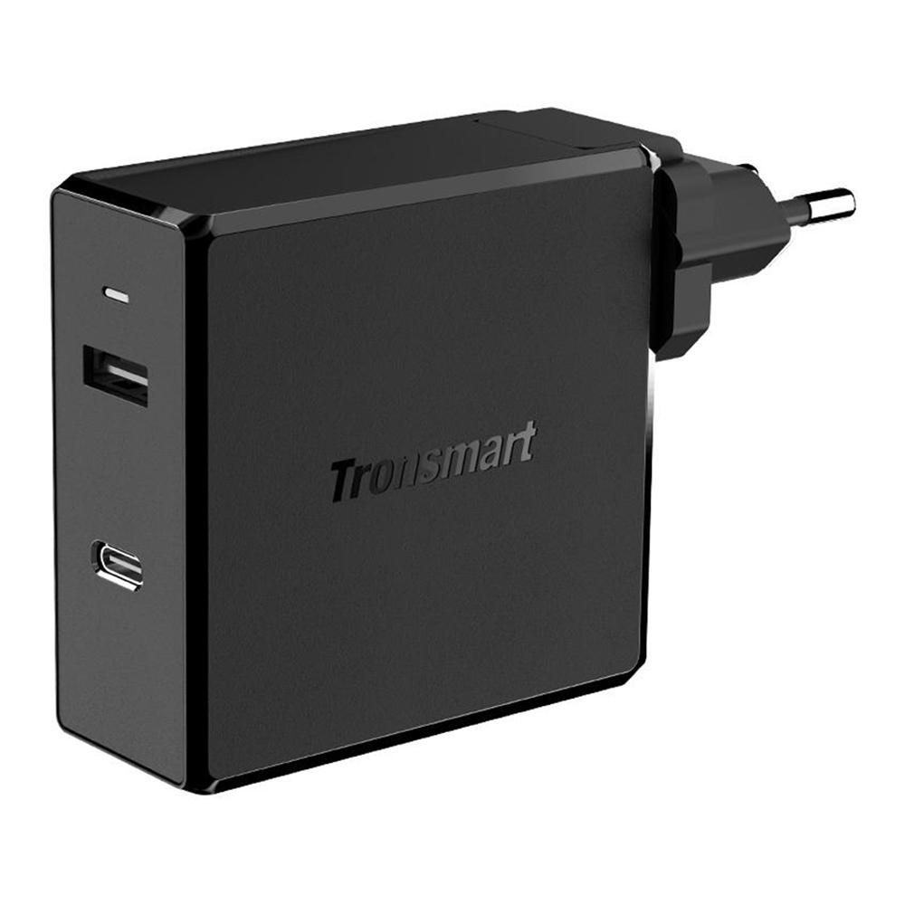 Tronsmart WCP03 57W USB-C-Wandladegerät mit 45W Stromversorgung 3.0 12W VoltiQ Faltbarer Stecker für MacBook iPhone - EU-Stecker