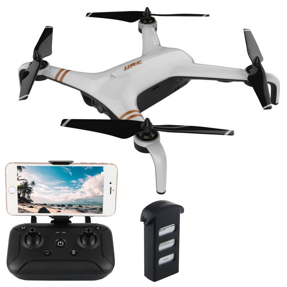 JJRC X7 SMART 1080P 5G WiFi FPV Double GPS Brushless RC Drone with One-Axis Gimbal Camera 25mins Flight Time RTF White - Two Batteries