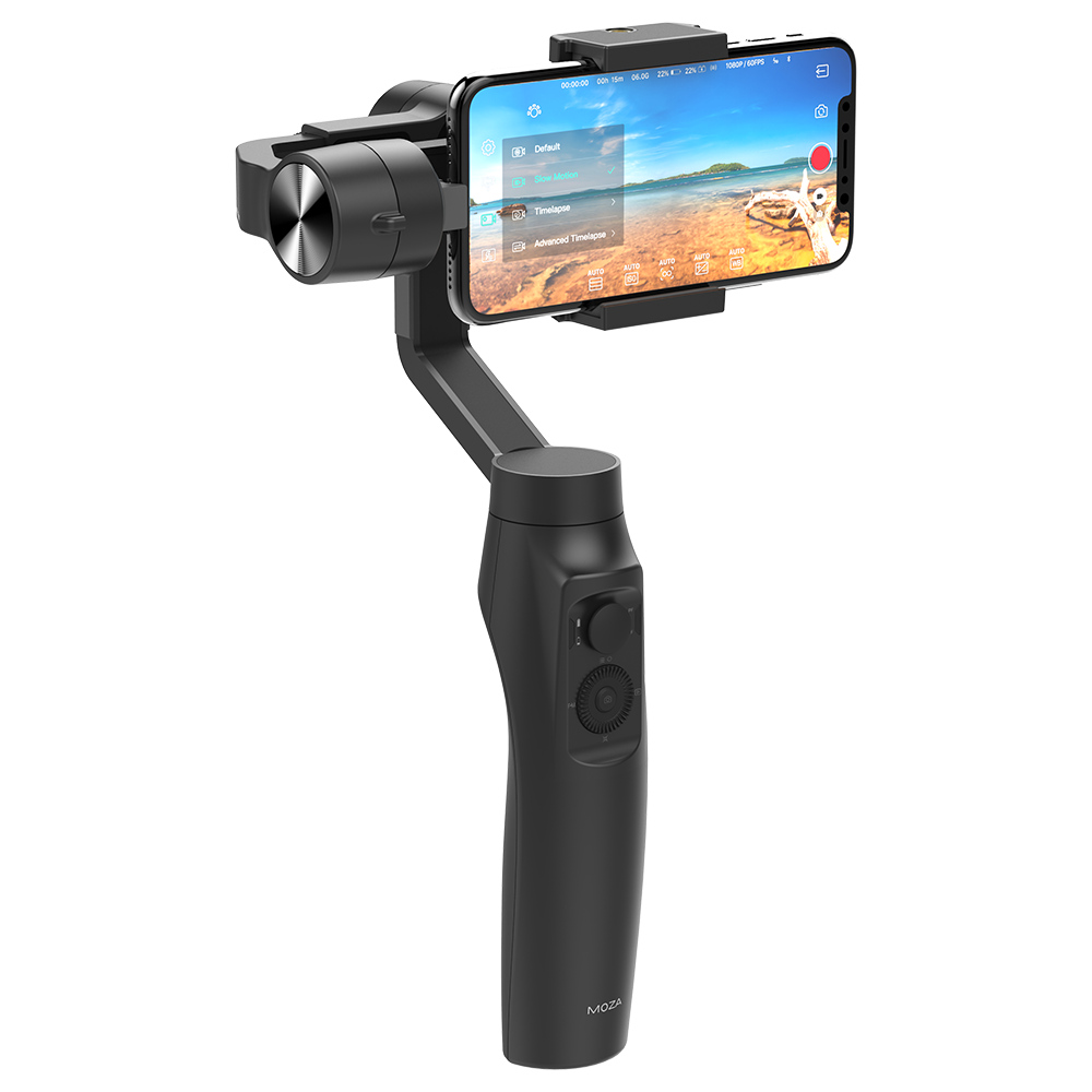 MOZA MINI-MI 3-Axis Brushless Handheld Gimbal Stabilizer for Smartphone - Black