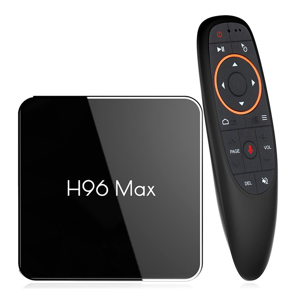 H96 MAX X2 S905X2 Android 8.1 2GB DDR4 16GB eMMC 4K TV Box with Voice Remote KODI 18.0 Dual Band WiFi LAN Bluetooth USB3.0 HDMI