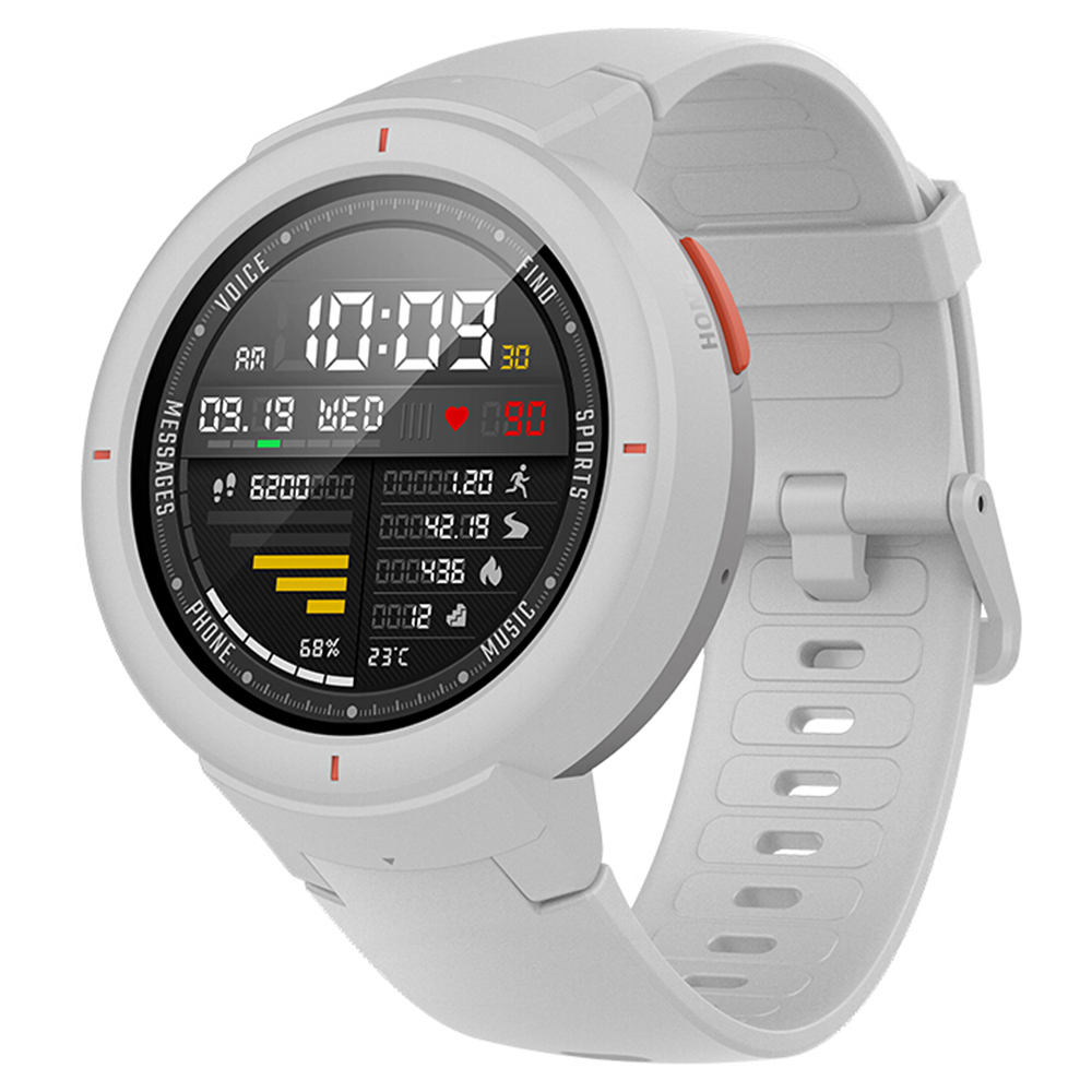 Huami AMAZFIT Verge 3 Smart Watch Ask Alexa 1.3 Inch AMOLED Screen Heart Rate Monitor 11 Sports Modes IP68 Waterproof Global ROM - White