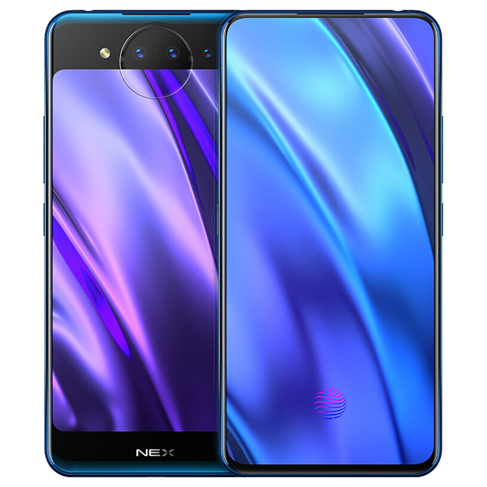 Vivo Nex Dual Display Edition 6.39 Inch 4G LTE Smartphone Snapdragon 845 10GB 128GB 12.0MP+2.0MP+TOF 3D Triple Rear Cameras Funtouch OS 4.5 Type-C In-Display Fingerprint - Blue