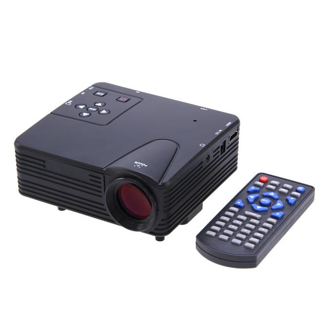 LZ-H80 1080P HD 80 LM Портативный светодиодный ЖК-игровой проектор с HDMI SD CARD USB VGA-слоты 400: 1 Контраст Черный