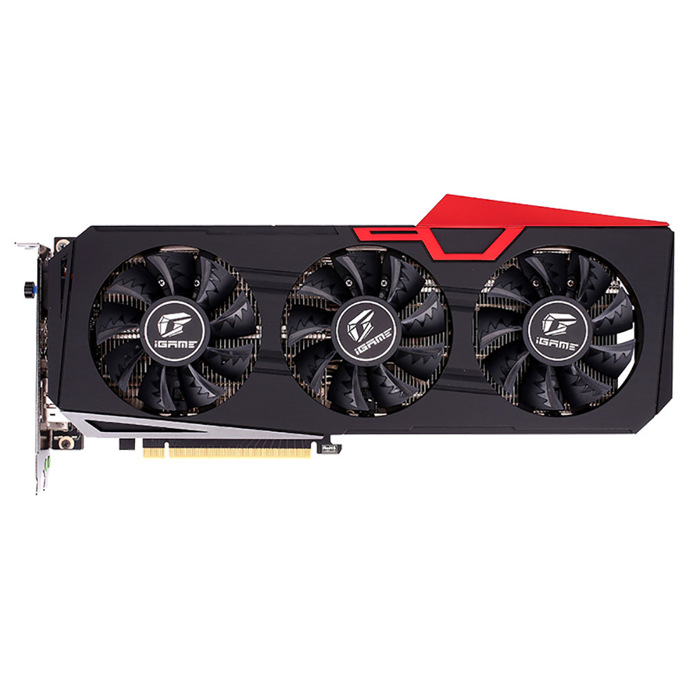 Colorful iGame GeForce RTX 2070 Ultra OC Video Graphics Card GDDR6 8GB 256Bit 1410-1710MHz 3DP+HDMI+USB Type-C - Red