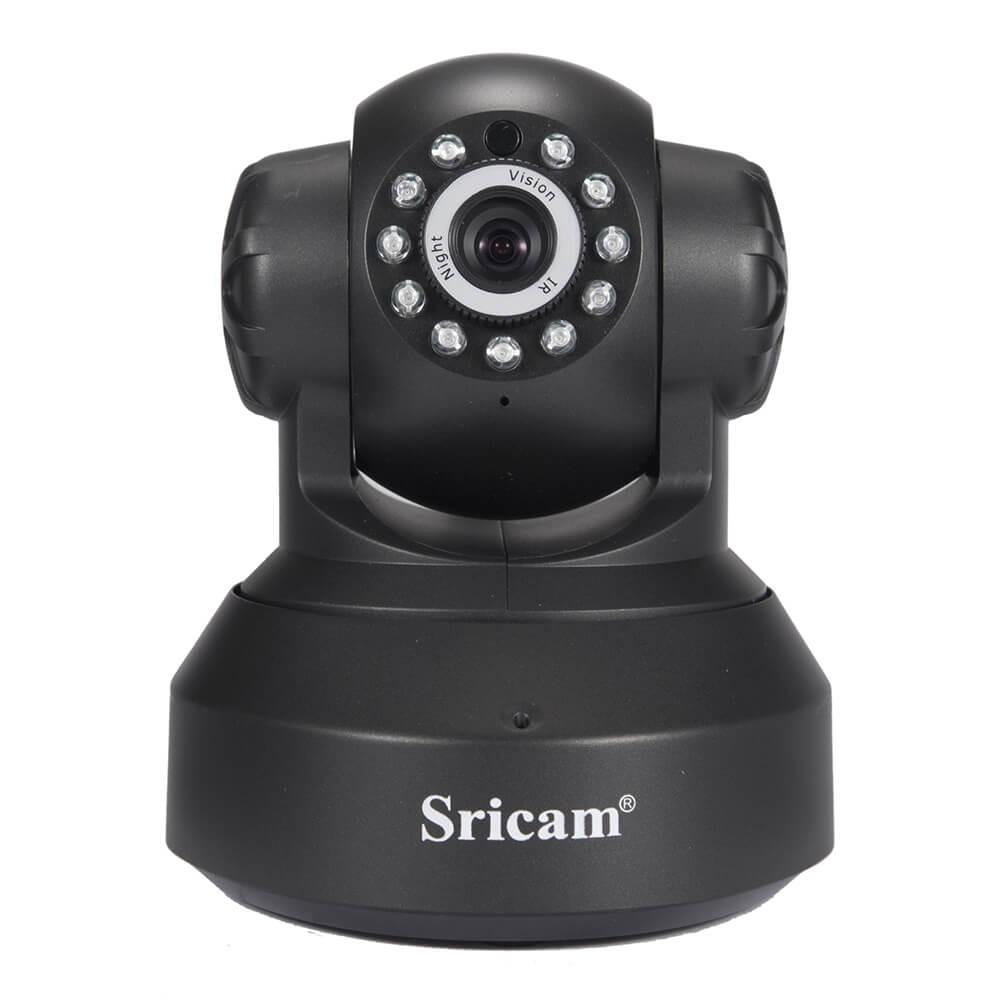 Sricam SP005 WiFi ONVIF 720P กล้อง IP กล้องสองทางอินฟราเรด Night Vision - สีดำ