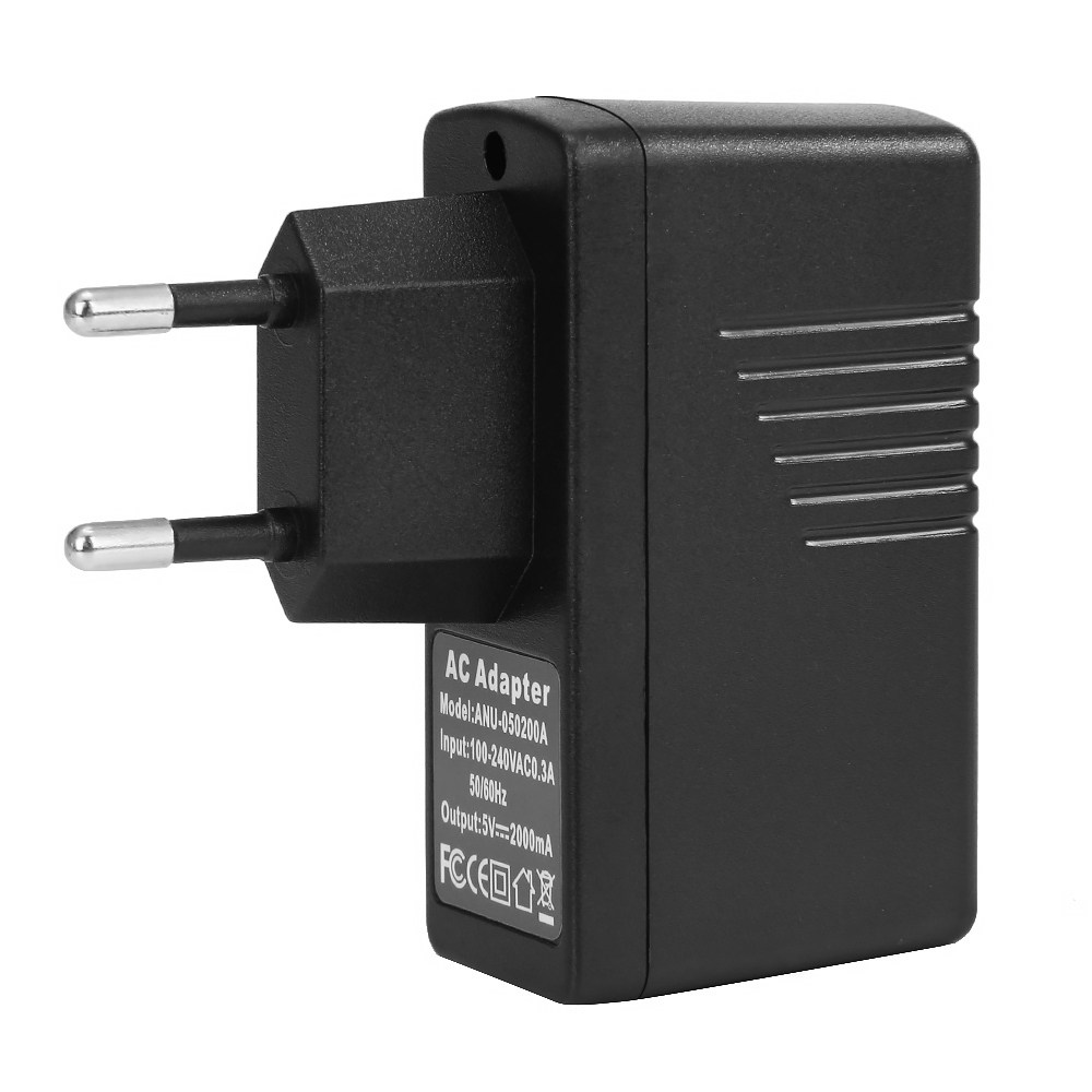 USB2.0 5V/2A EU Plug Charger - Black