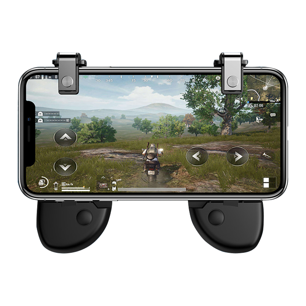 R8 Mobile Gamepad PUBG L1R1 Shooting for Android IOS - Black