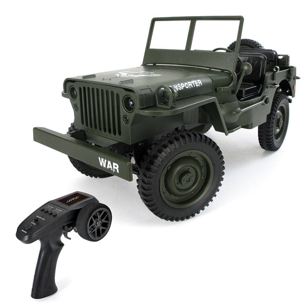 JJRC Q65 Transporter-6 2.4G 1:10 4WD Convertible Jeep Off-road RC Car Military Truck RTR - Army Green