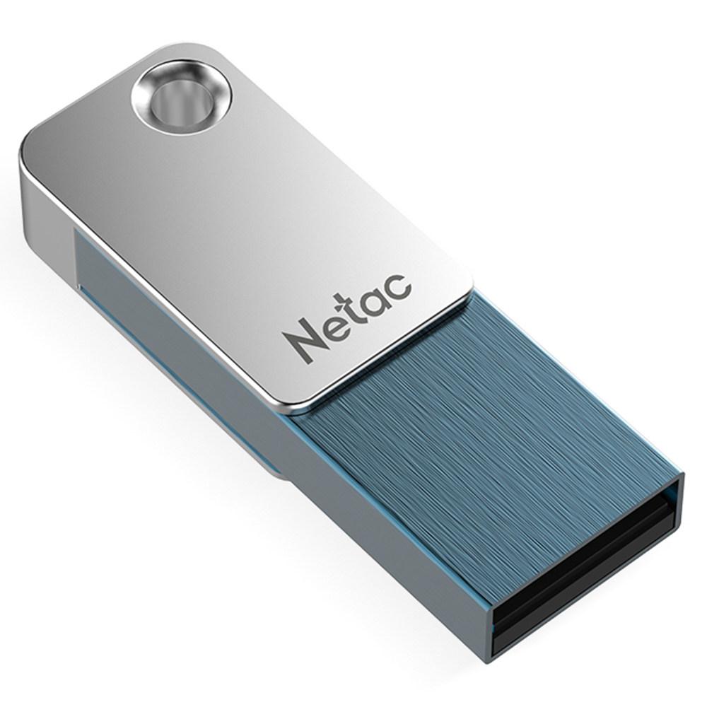 USB מסגסוגת אבץ - כסף + כחול
