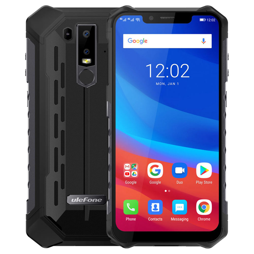 Ulefone Armor 6 6.2 Inch 4G LTE Smartphone Helio P60 6GB 128GB 21.0MP+13.0MP Dual Rear Cameras Android 8.1 IP68 NFC Wireless Charge - Black