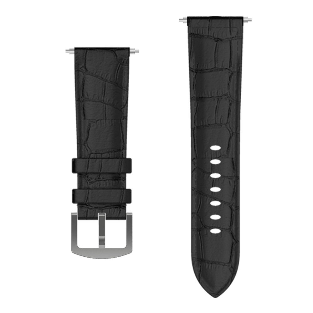 Replacement Leather Watch Band Strap For Kospet Hope 4G Smartwatch Phone - Black