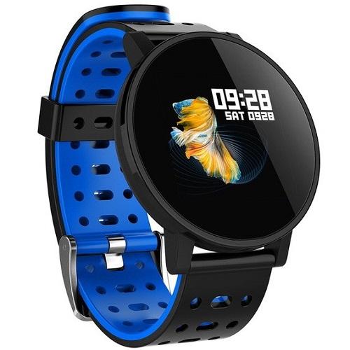 Makibes T3 Έξυπνο ρολόι 1.3 Inch IPS Οθόνη καρδιακής συχνότητας καρδιακής συχνότητας IP67 - Μπλε