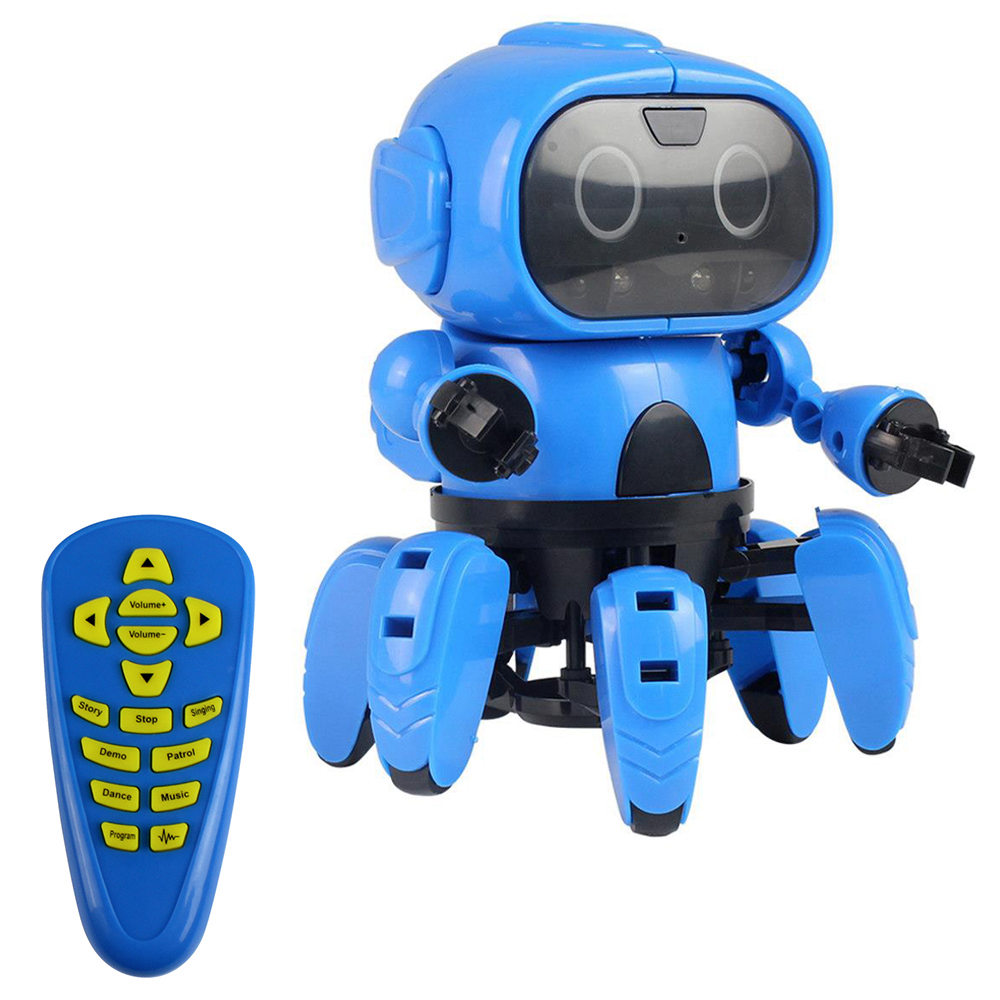 MoFun-963 DIY 6-Legged Programmable RC Robot with Gesture Sensing Follow Mode Infrared Obstacle Avoidance Intelligent