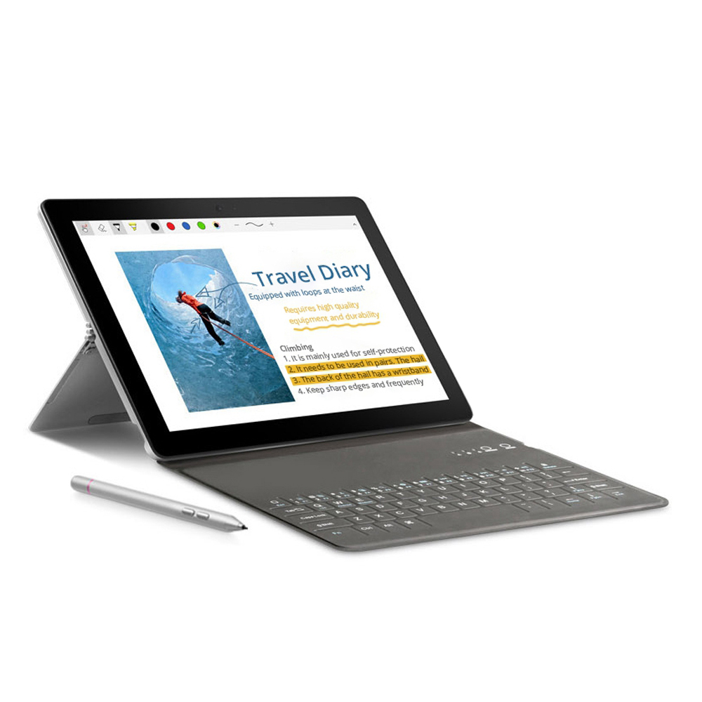 VOYO i8 Max 4G 10.1 Inch Tablet PC (Silver) + Original Bluetooth Keyboard (Black) + Original Stylus Pen (Silver)