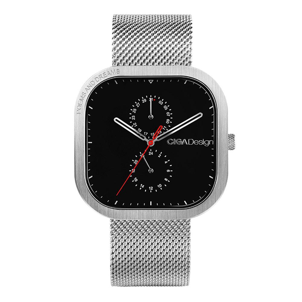 Xiaomi Ciga Design Men Simple Quartz Watch Square Case Silver