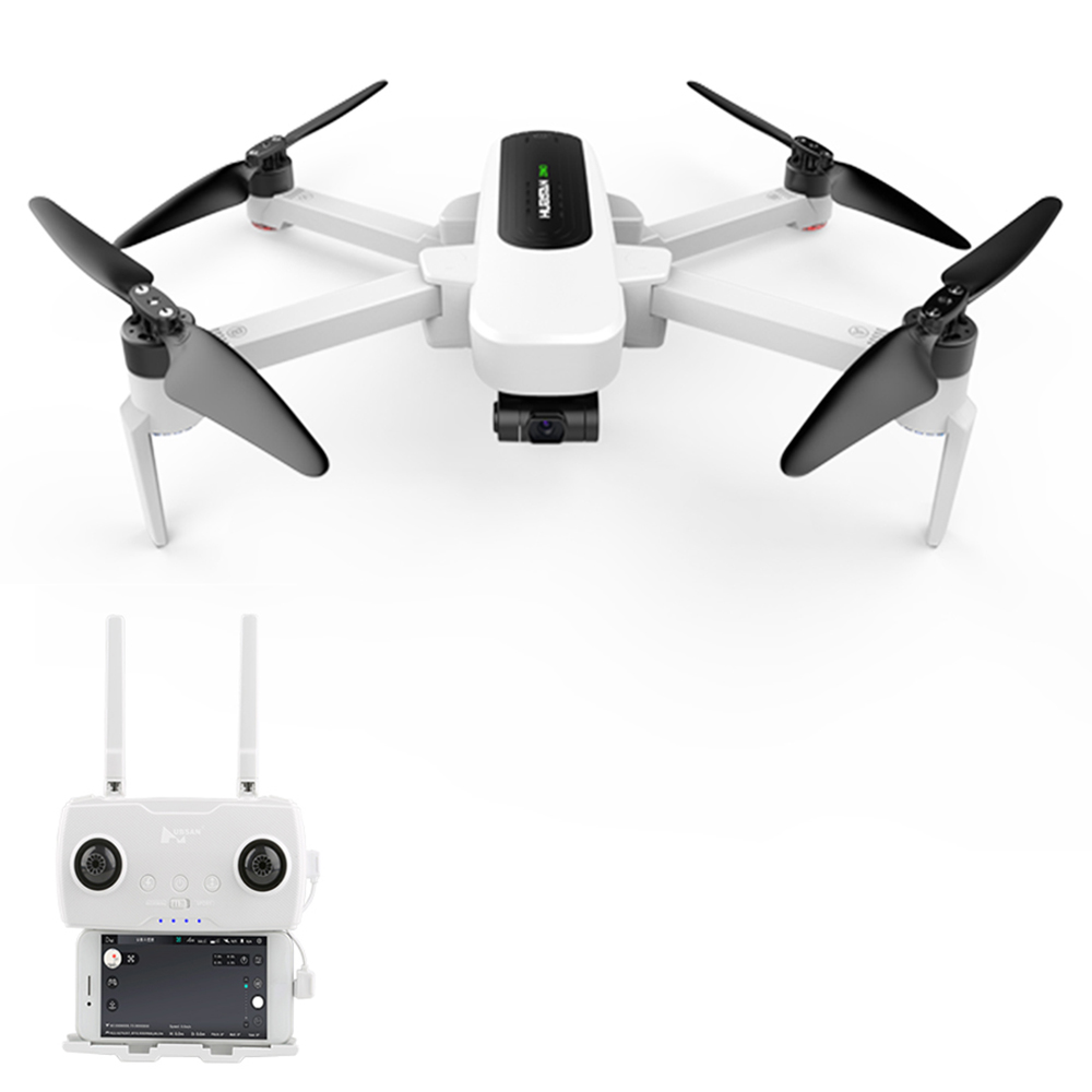 Hubsan H117S Zino 5G Wifi FPV 1KM GPS折り畳み式RCドローン4K 3軸ジンバルカメラパノラマ写真ラインフライモードRTF-ホワイト