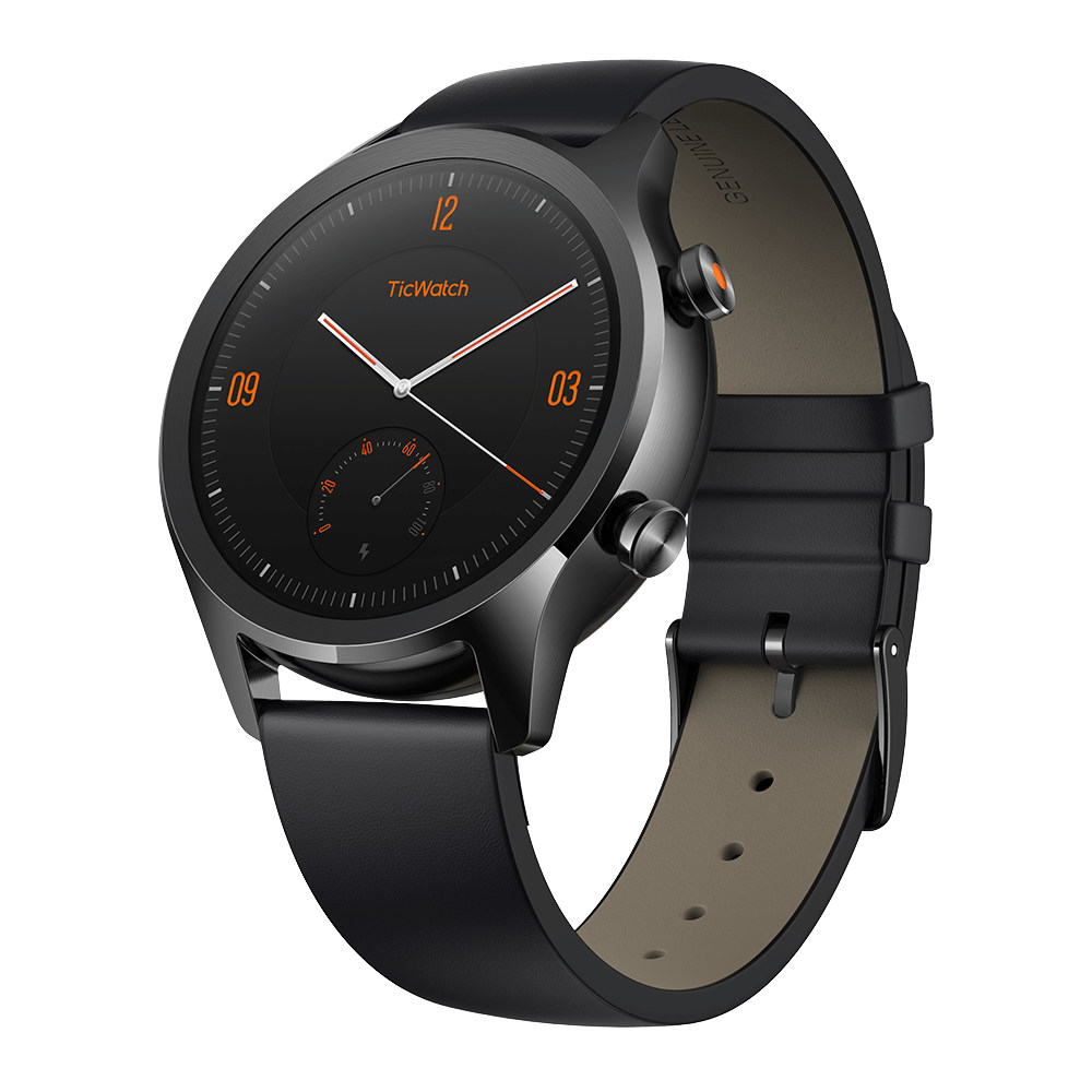 TicWatch C2 Smartwatch Wear OS di Google 1.3 Inch AMOLED Screen IP68 GPS integrato Dynamic Heart Rate Monitor Tracker di fitness Google Pay - Nero