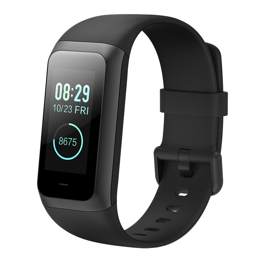 Original Xiaomi Huami Amazfit Cor 2 Smart Bracelet 2.5D Color IPS Touch Screen 1.23 Inch English Version 5ATM Water Resistant  - Black