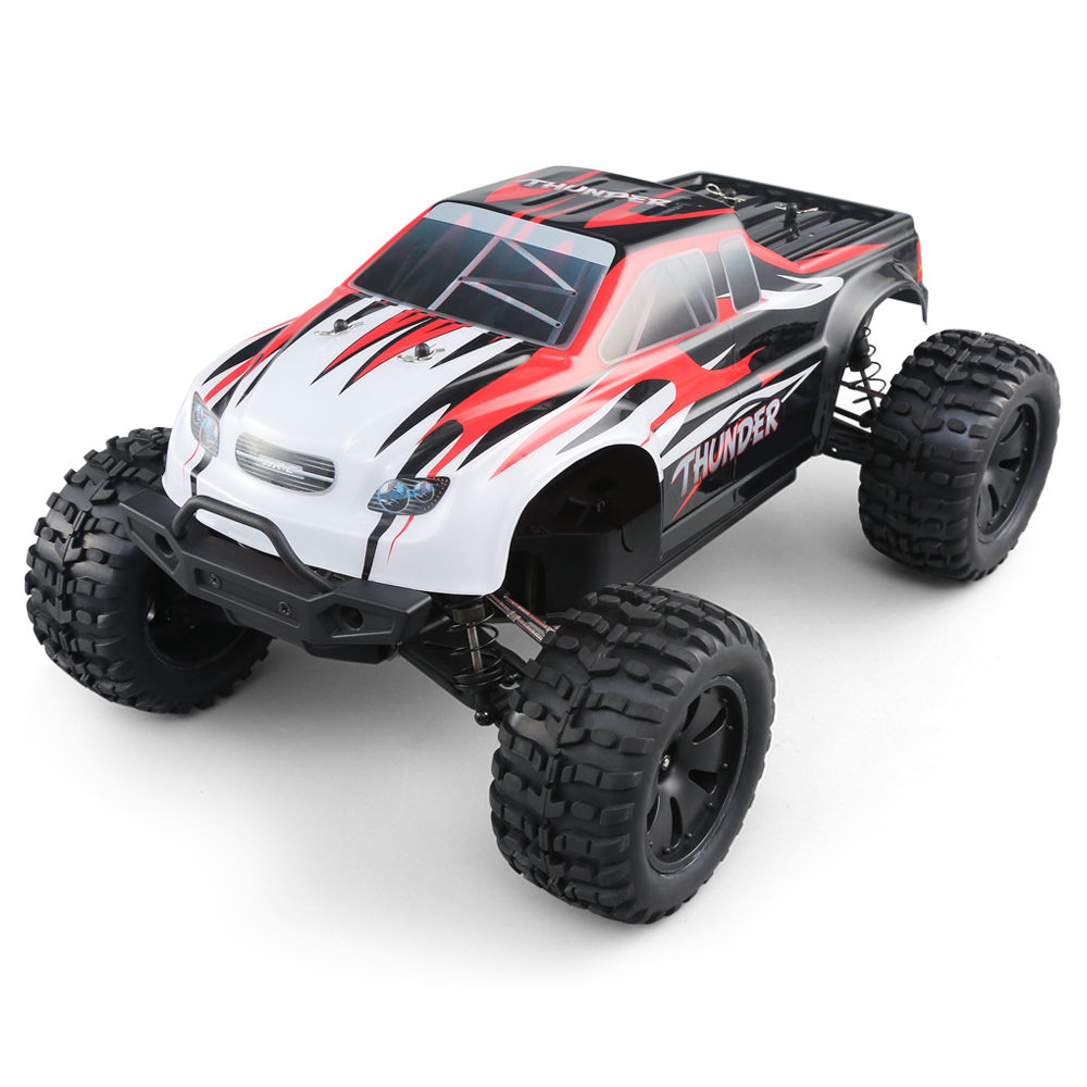 JJRC Q48 THUNDER 2.4G 1:10 4WD Waterproof Brushless 70km/h Off-road RC Car Monster Truck RTR - Red