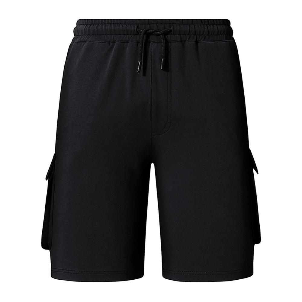DK17 Uomo Casual Sports Tethers Shorts Fifth Pants Loose Traspirante Taglia L - Nero