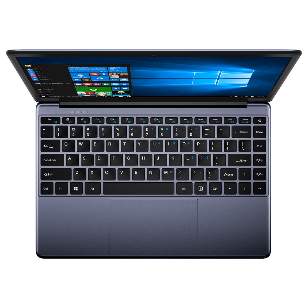 Chuwi HeroBook Laptop Intel Atom 5-E8000 Quad Core 14.1 Zoll 1366x768 4GB RAM 64GB ROM Windows 10 - Grau