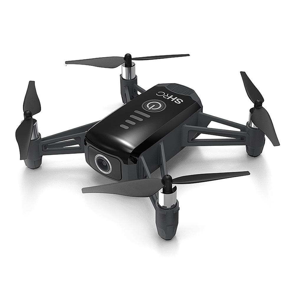 SHRC H2 Locke 2K WIFI FPV RC Quadcopter Smart Seguire la modalità di posizionamento del flusso ottico RTF Nero - Tre batterie
