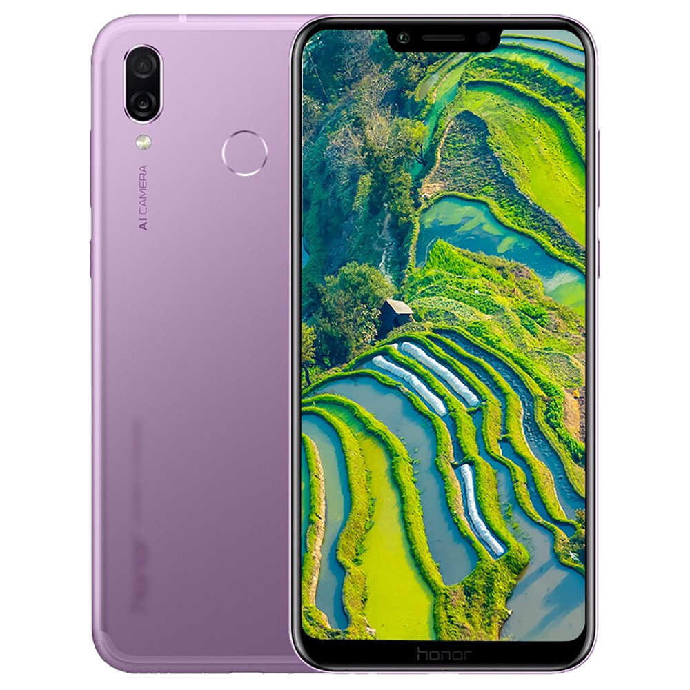HUAWEI Honor Play 6.3 Inch 4G LTE Smartphone Kirin 970 4GB 64GB 16.0MP+2.0MP Dual Rear Camera Android 8.1 FHD+ Screen 3750mAh OTG Touch ID Type-C Global Version - Purple