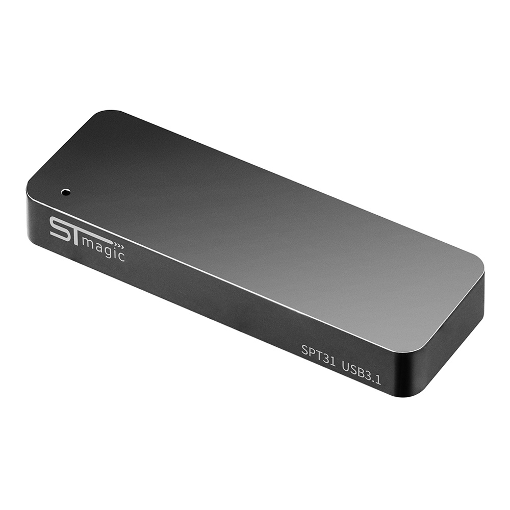 STmagic SPT31 512G Mini Portable M.2 SSD USB3.1 Solid State Drive Read Speed 500MB/s - Gray