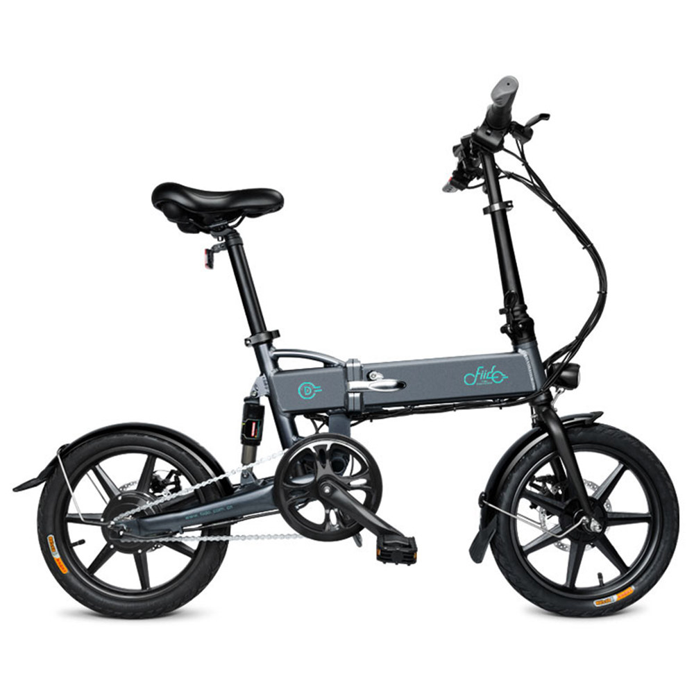 FIIDO D2 Folding Electric Moped Bike City Bike Commuter Bike Three Riding Modes 16 Inch Tires 250W Motor 25km/h 7.8Ah Lithium Battery 20-35KM Range - Dark Gray