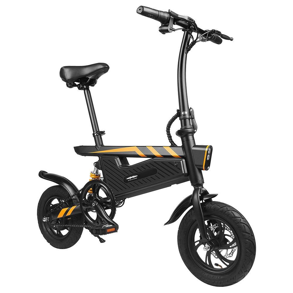 FreeAurora T18 ZiYouJiGuang Portable Folding Smart Electric Moped Bicycle 250W Motor 25Km/h 12 Inch Tire - Black