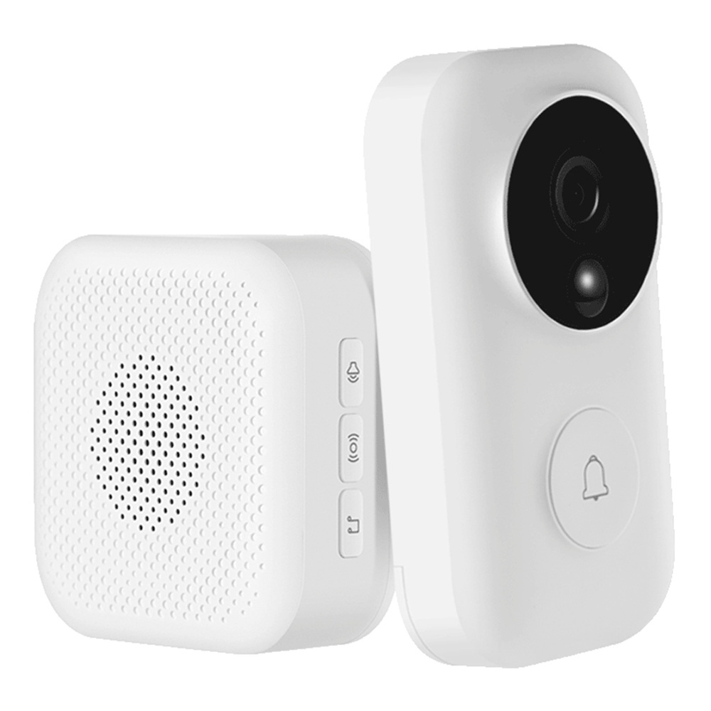 Xiaomi FJ02MLWJ Smart Video Doorbell AI Face Identification 720P IR Night Vision Motion Detection SMS Push Intercom - White