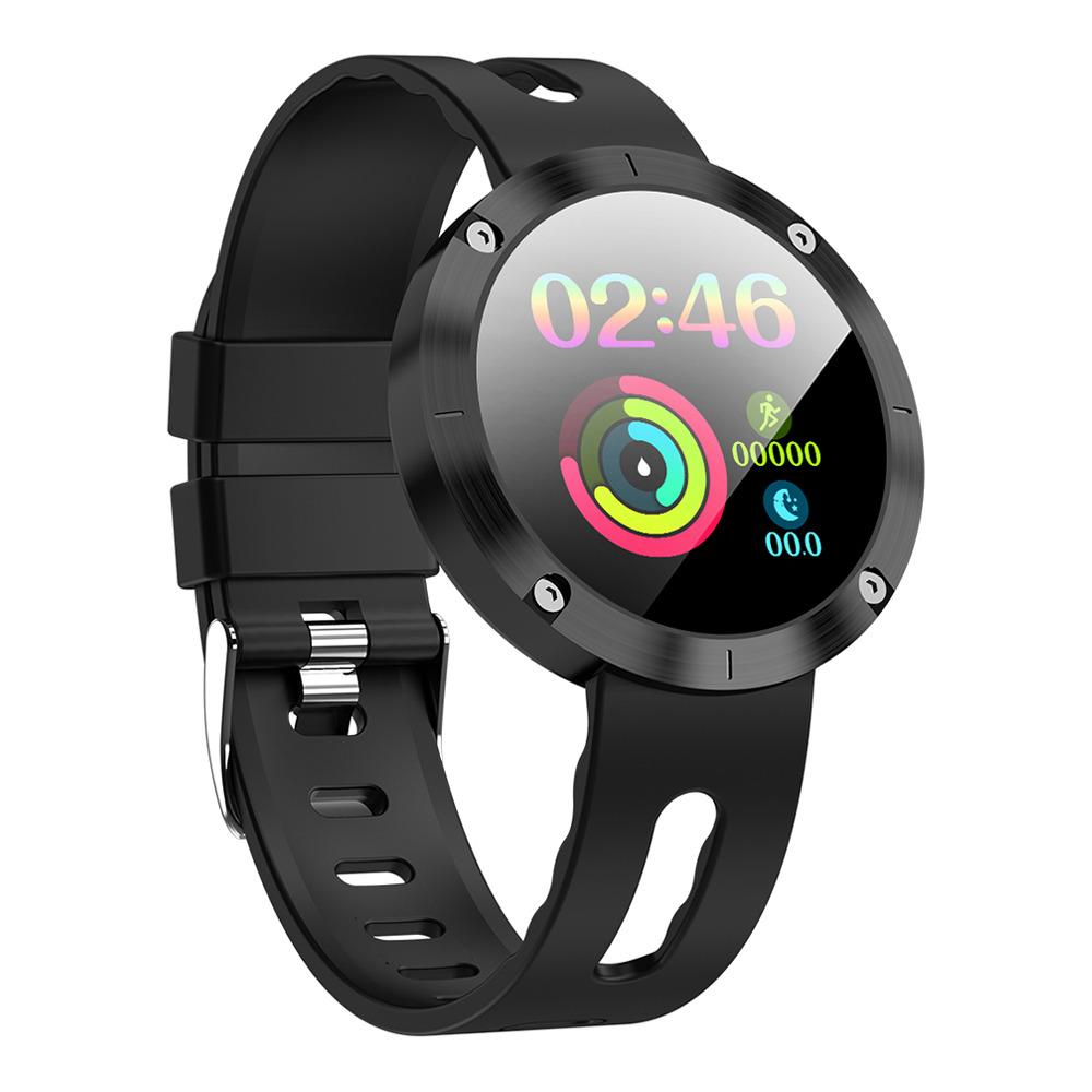 Makibes DM58 Plus Έξυπνο ρολόι 1.22 Inch IPS Οθόνη καρδιακού ρυθμού Παρακολούθηση υγείας IP68 - Μαύρο