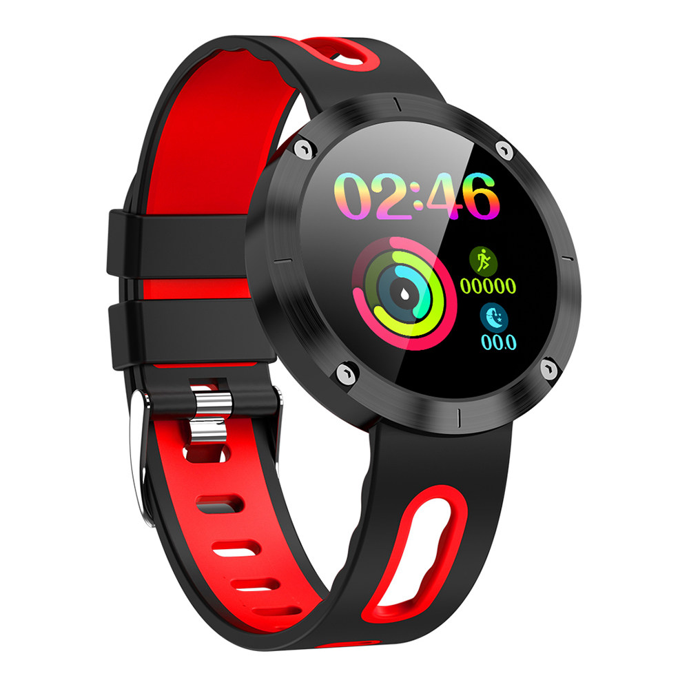 Makibes DM58 Plus Smart Watch 1.22 Inch IPS Экран Монитор сердечного ритма Health Tracker IP68 - красный