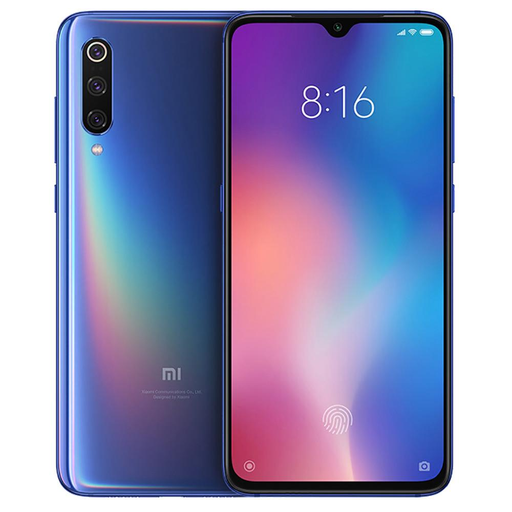 Xiaxa Mi 9 6.39 Inch 4G LTE Snapdragon per smartphone 855 6GB 128GB 48.0MP + 12.0MP + 16.0MP Triple posteriore Telecamere MIUI 10 In-display Fingerprint NFC Fast Charge Versione globale - Ocean Blue