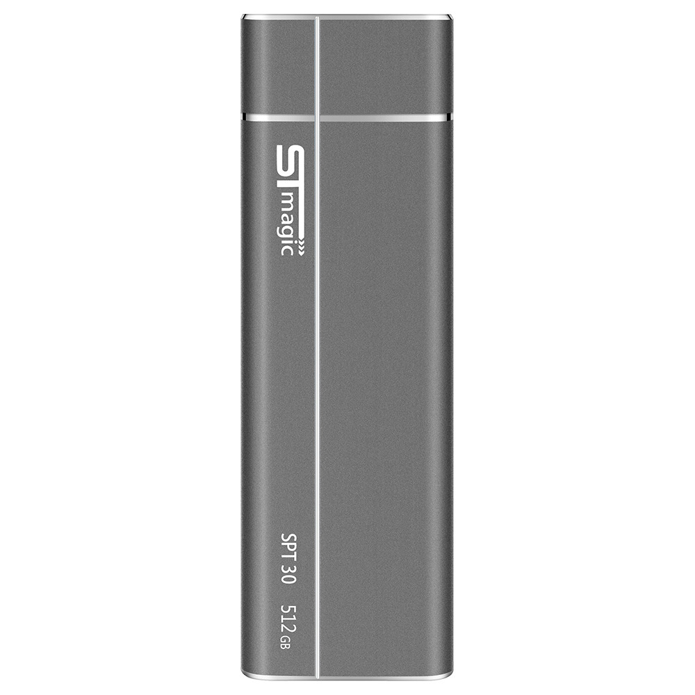 STmagic SPT30 512G Mini Portable M.2 SSD USB3.1 To Type-C Solid State Drive Read Speed 480MB/s - Gray
