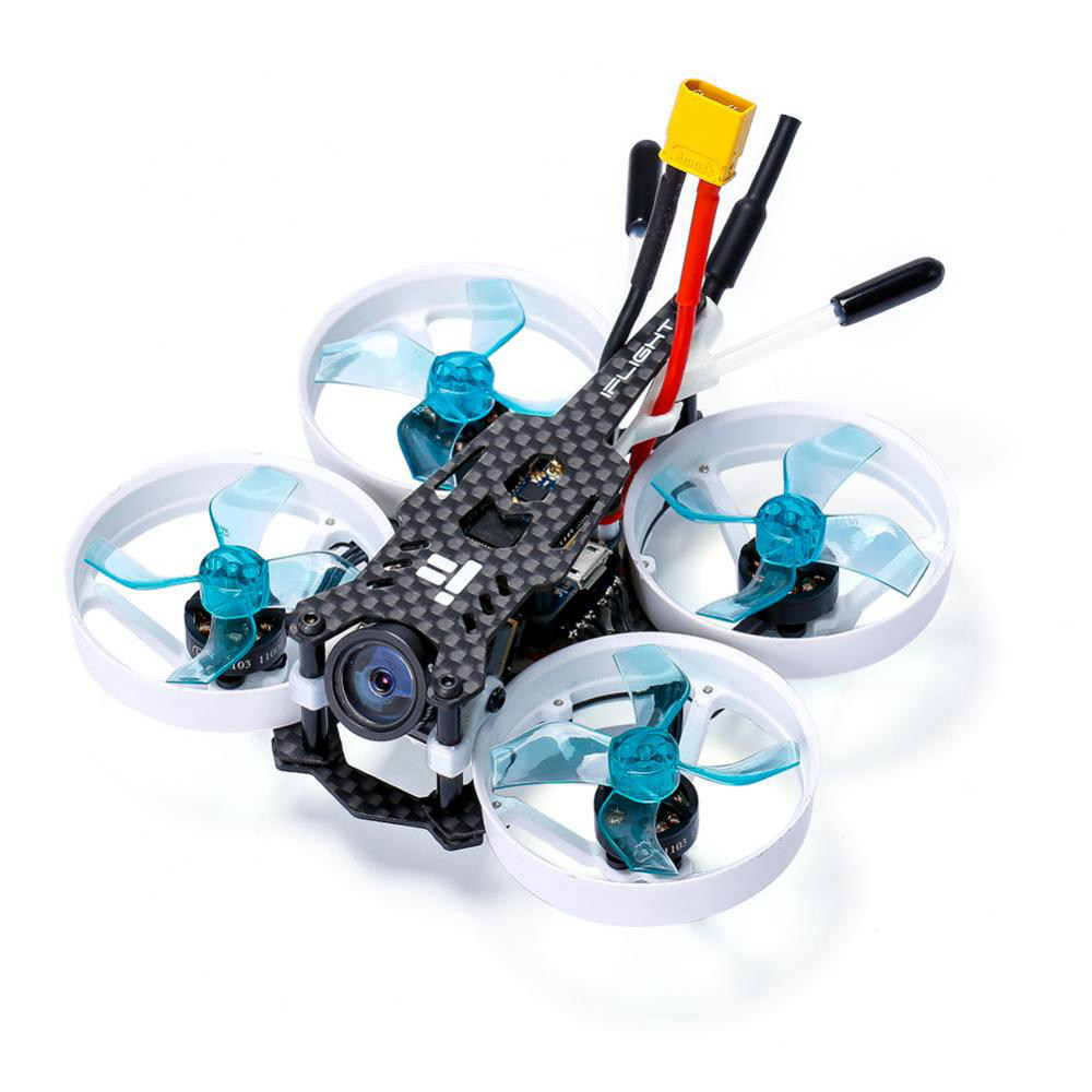 Iflight CineBee 75HD 75mm 2S F4 Whoop FPV Racing Drone مع Caddx Turtle V2 Camera BNF - Flysky FS-A8S V2 Receiver