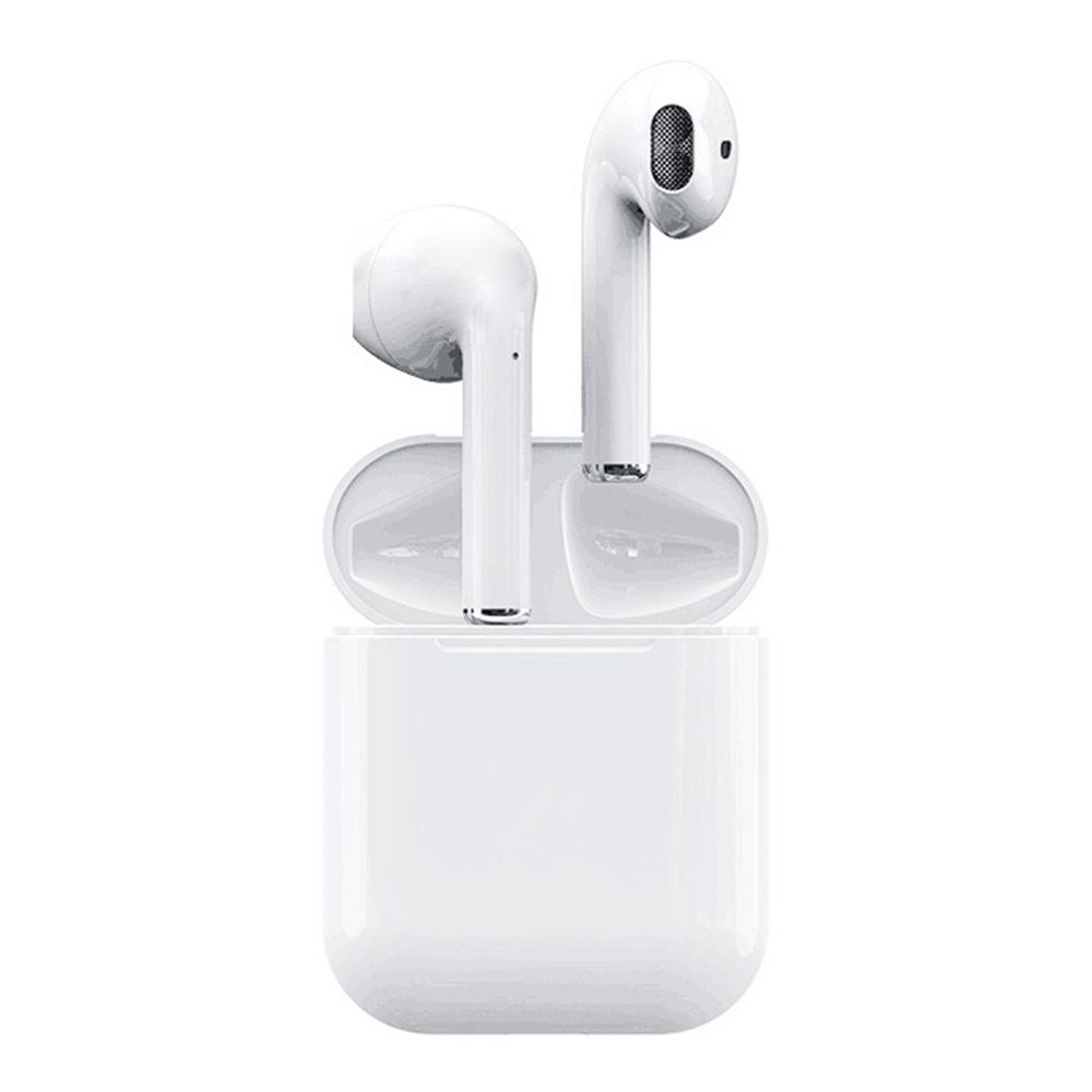 Apods i12 Bluetooth 5.0 TWSイヤホンRealtek 8763BFRバイノーラルコールタップコントロール自動ペアリングステレオサウンド4時間稼働時間 - アップグレード版