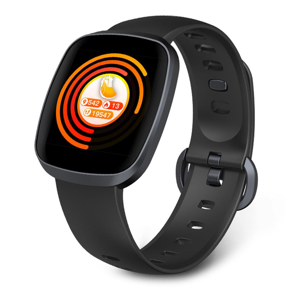 Makibes HR5 Smart Watch 1.3 Inch IPS Screen IP67 Sleep Heart Rate Monitor - Black