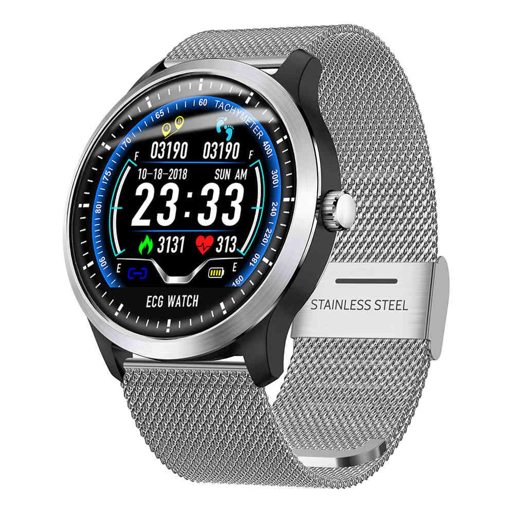 Μακίμπες BR4 Έξυπνο ρολόι 1.22 Inch TFT Οθόνη TFT ECG Μέτρηση καρδιακής συχνότητας Πίεση αίματος Παρακολούθηση ύπνου IP67 - Ασημί
