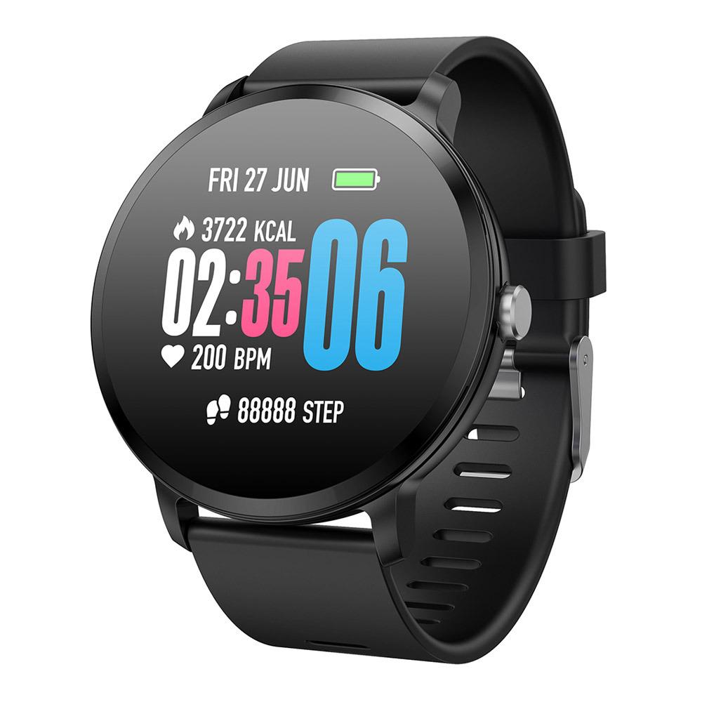 Makibes T4 Έξυπνο ρολόι 1.3 Inch TFT Οθόνη IP67 Πίεση της καρδιάς Πίεση αίματος Παρακολούθηση ύπνου οξυγόνου Multi Sports Modes - Μαύρο