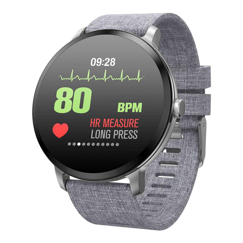 Makibes T4 Έξυπνο ρολόι 1.3 Inch TFT Οθόνη IP67 Πίεση της καρδιάς Πίεση αίματος Παρακολούθηση ύπνου οξυγόνου Πολλές αθλητικές λειτουργίες - Γκρι