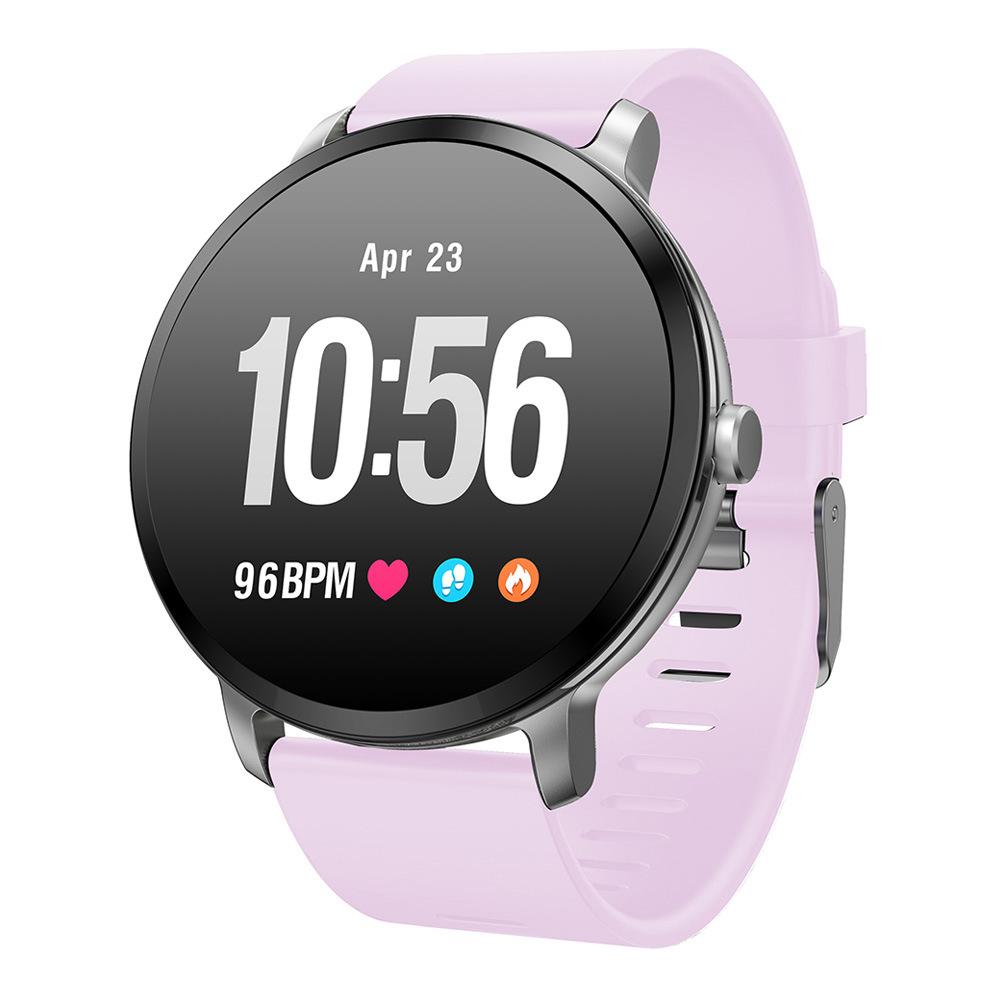 Makibes T4 Έξυπνο ρολόι 1.3 Inch TFT Οθόνη IP67 Πίεση της καρδιάς Πίεση αίματος Παρακολούθηση ύπνου οξυγόνου Πολλές αθλητικές λειτουργίες - Ροζ